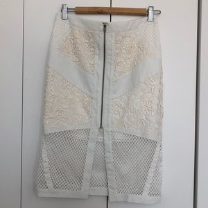 NWT White Crochet Skirt US Sz 6 AUS Sz 10